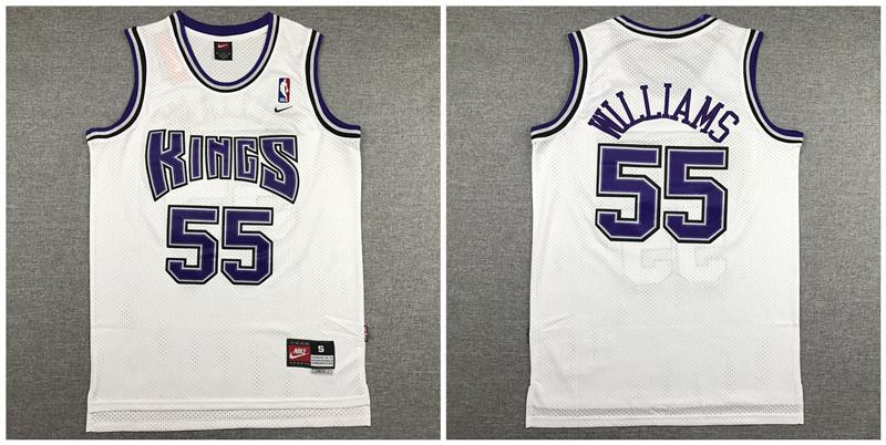 Kings 55 Jason Williams White Nike Swingman Jersey