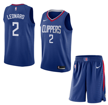 Clippers 2 Kawhi Leonard Blue City Edition Nike Swingman Jersey(With Shorts)