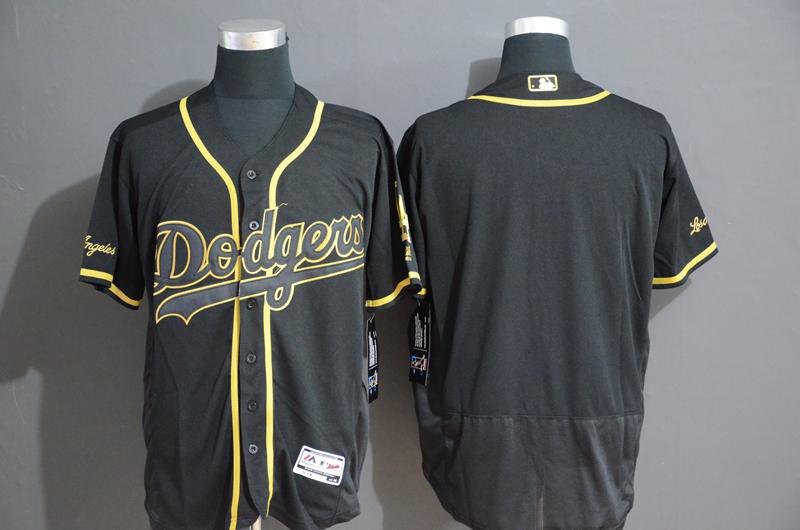 Dodgers Blank Black Gold Flexbase Jersey