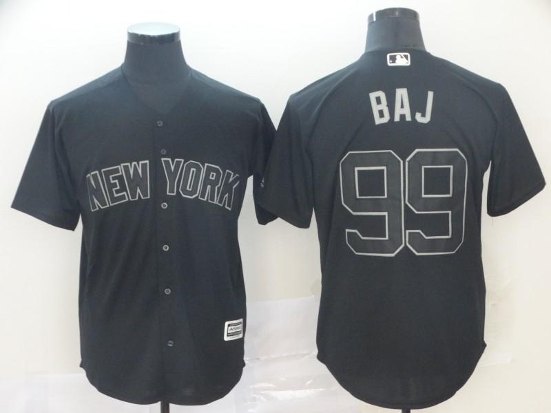 """Yankees 99 Aaron Judge """"BAJ"""" Black 2019 Players' Weekend Player Jersey"""