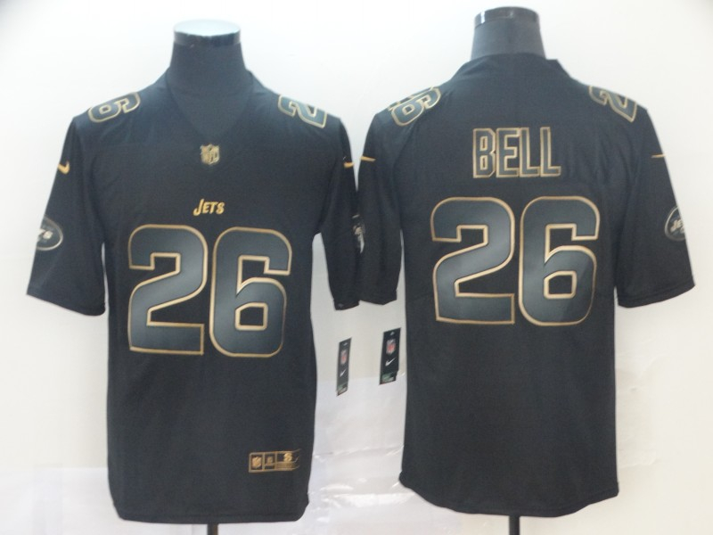 Nike Jets 26 Le'Veon Bell Black Gold Vapor Untouchable Limited Jersey