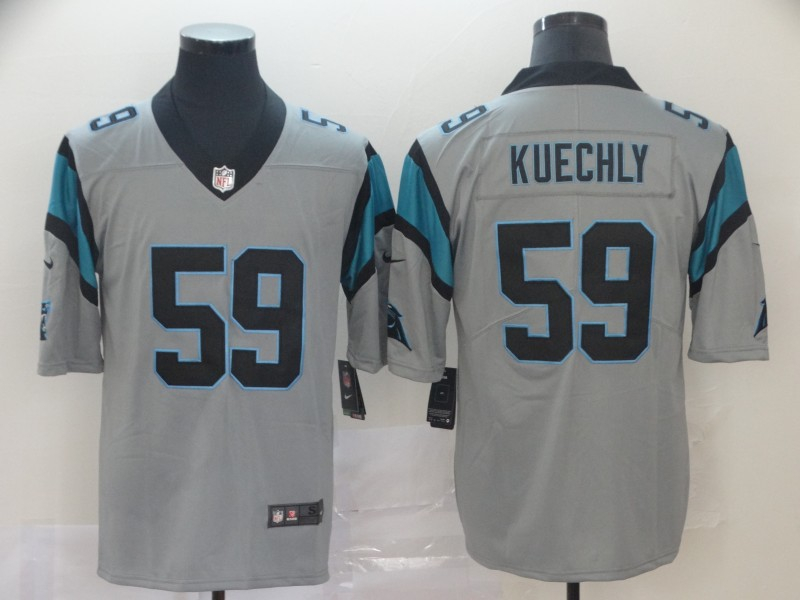 Nike Panthers 59 Luke Kuechly Silver Inverted Legend Limited Jersey