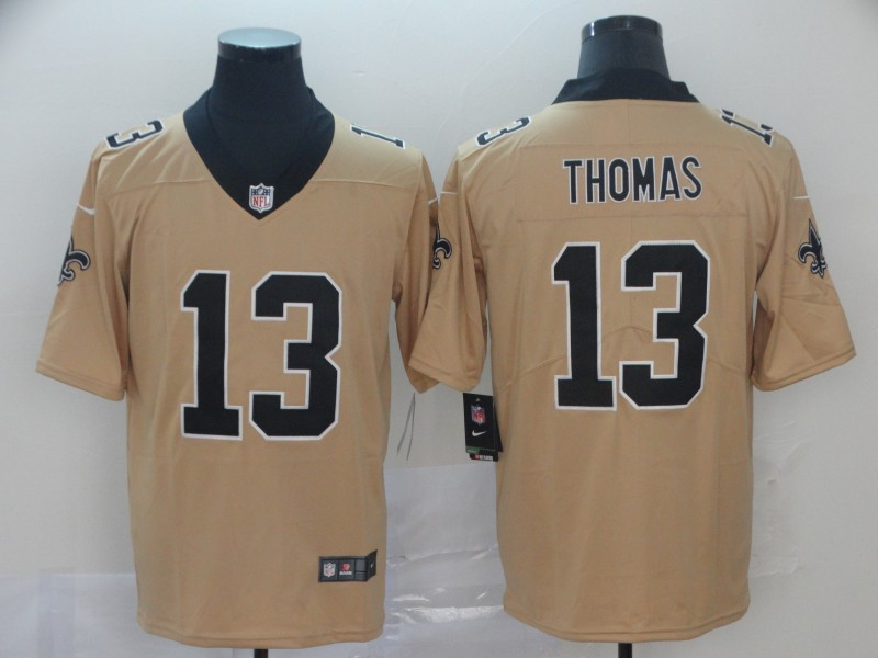 Nike Saints 13 Michael Thomas Cream Inverted Legend Limited Jersey