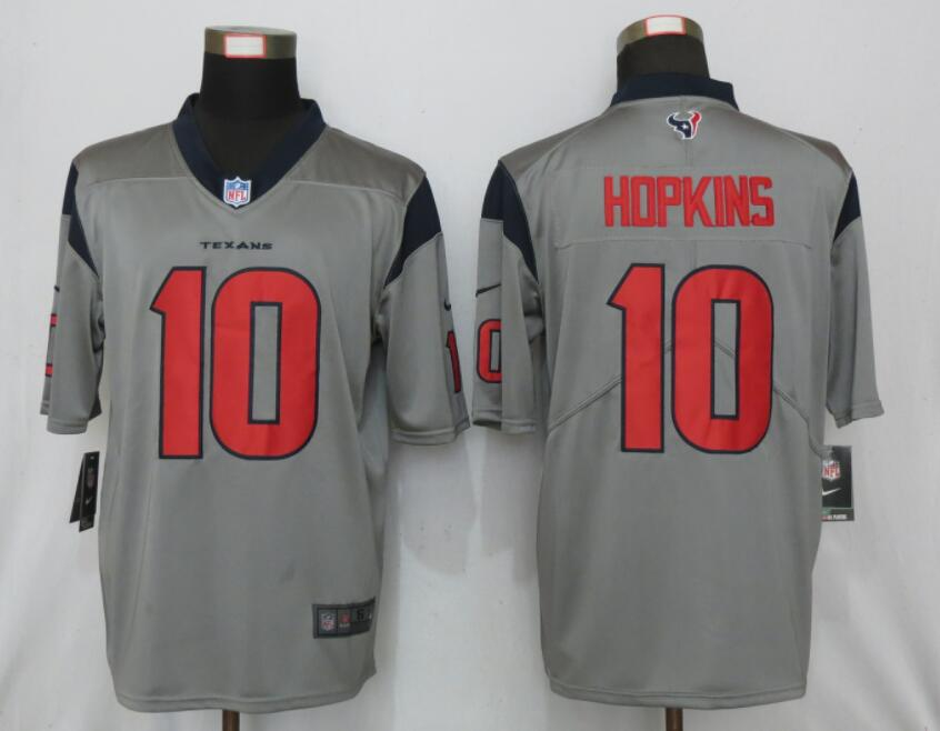Nike Texans 10 DeAndre Hopkins Gray Inverted Legend Limited Jersey