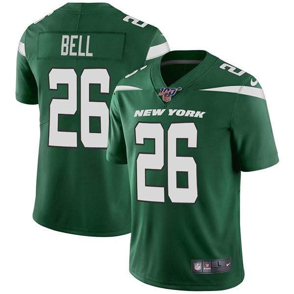 Nike Jets 26 Le'Veon Bell Green 100th Season Vapor Untouchable Limited Jersey