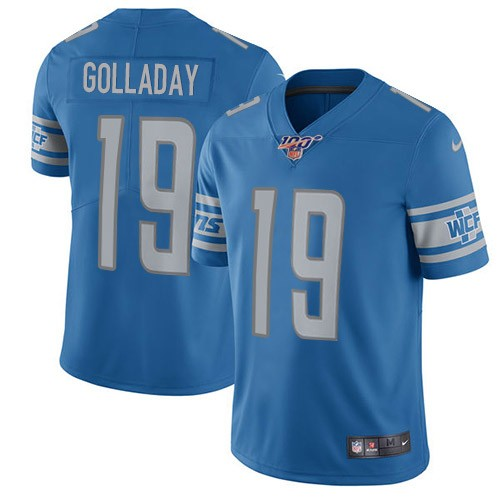Nike Lions 19 Kenny Golladay Blue 100th Season Vapor Untouchable Limited Jersey