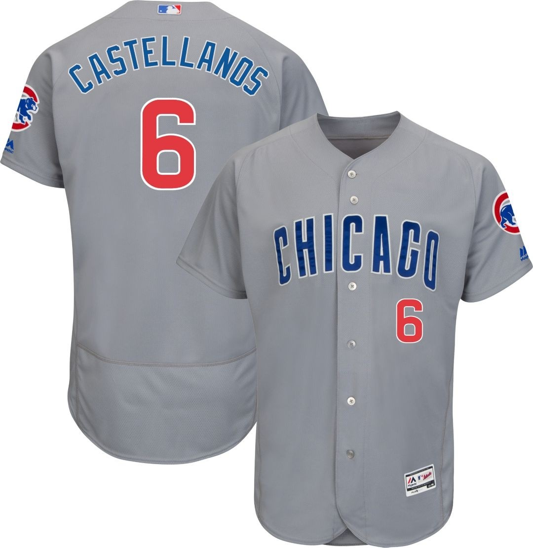 Cubs 6 Nick Castellanos Gray Flexbase Jersey