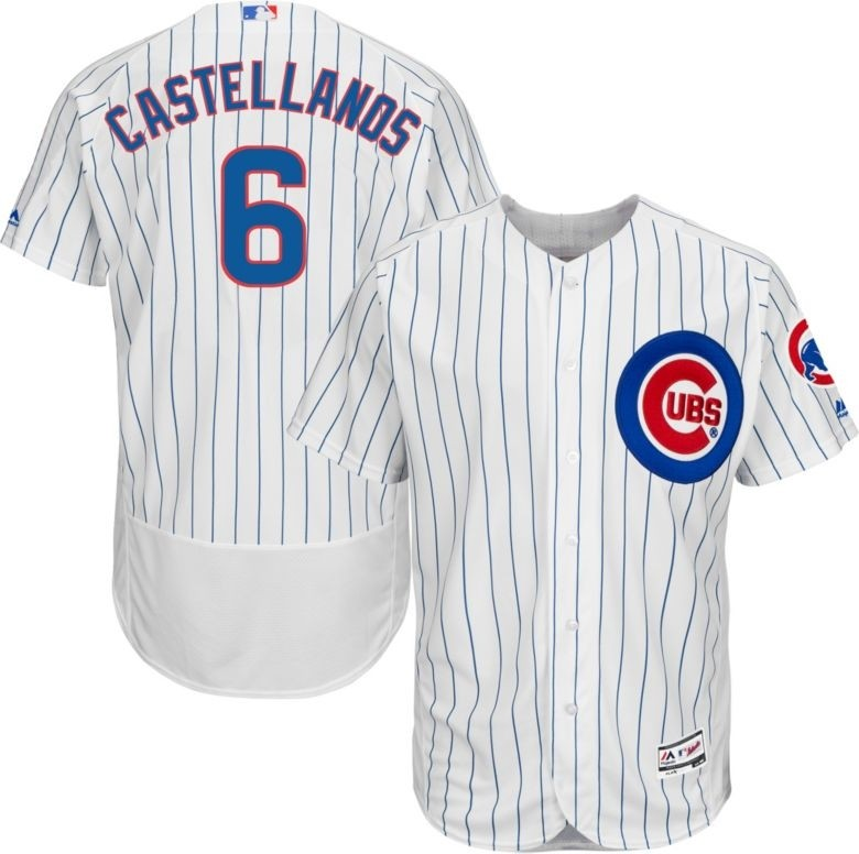 Cubs 6 Nick Castellanos White Flexbase Jersey