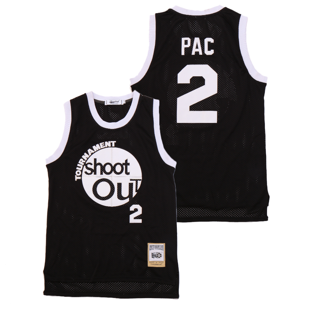 The Rim Tournament Shoot Out 2 Pac Black Basketball Jersey