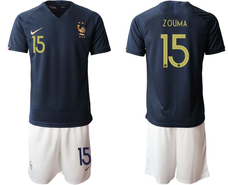 2019-20 France 15 ZOUMA Home Soccer Jersey