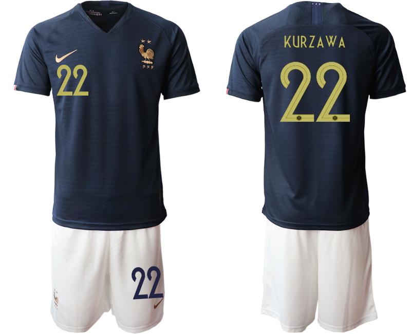 2019-20 France 22 KURZAWA Home Soccer Jersey