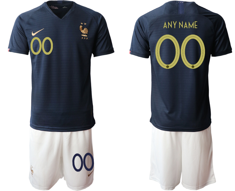 2019-20 France Customized Home Soccer Jersey