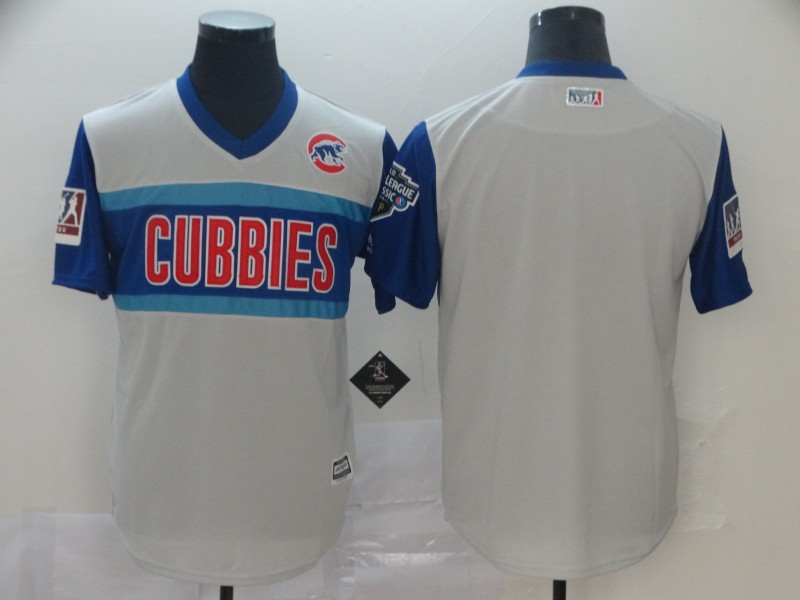 Cubs Blank Gray 2019 MLB Little League Classic Team Jersey
