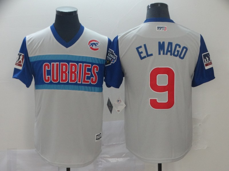 "Cubs 9 Javier Baez ""El Mago"" Gray 2019 MLB Little League Classic Player Jersey"