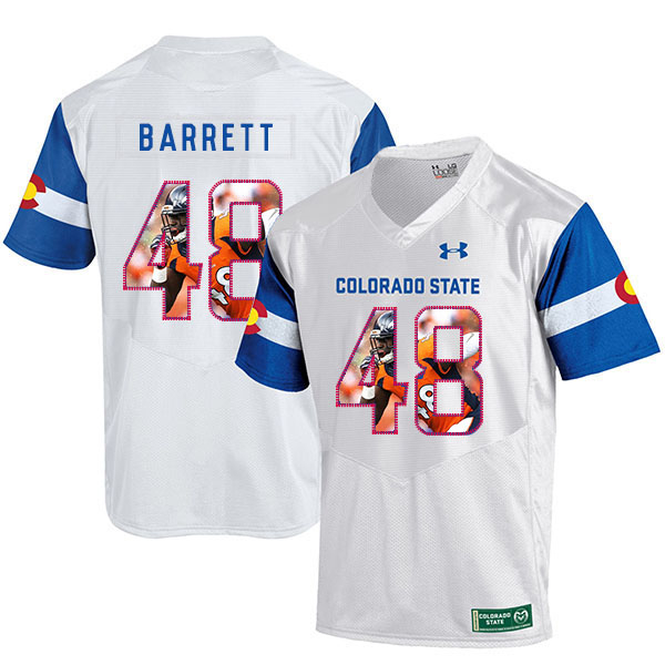 Colorado State Rams 48 Shaquil Barrett White Fashion College Football Jersey