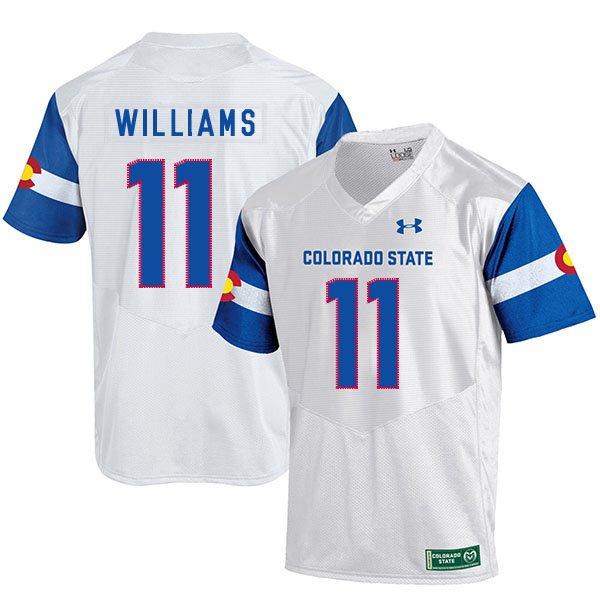 Colorado State Rams 11 Preston Williams White College Football Jersey