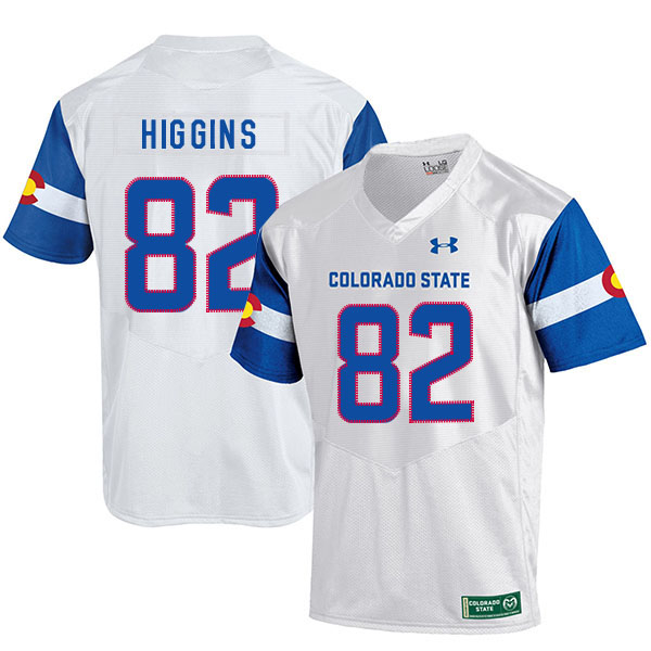 Colorado State Rams 82 Rashard Higgins White College Football Jersey