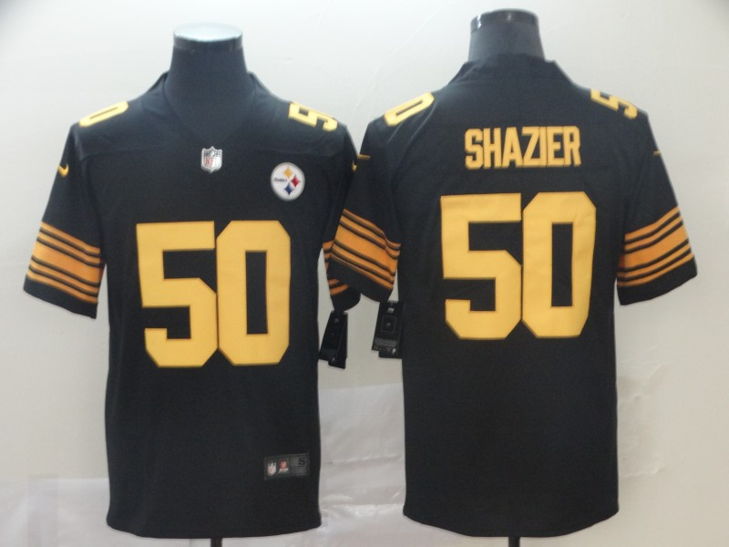 Nike Steelers 50 Ryan Shazier Black Color Rush Limited Jersey
