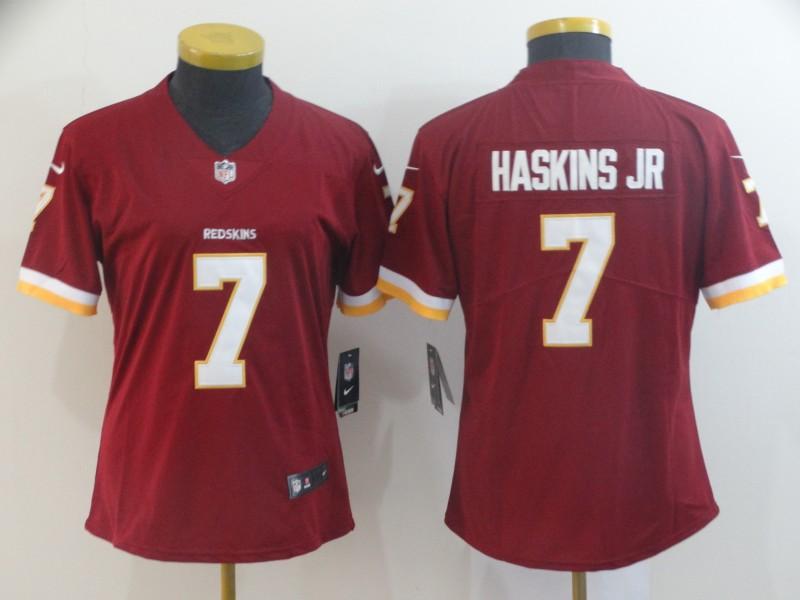 Nike Redskins 7 Dwayne Haskins Jr Burgundy Women Vapor Untouchable Limited Jersey