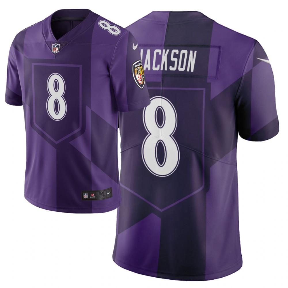 Nike Ravens 8 Lamar Jackson Purple City Edition Vapor Untouchable Limited Jersey