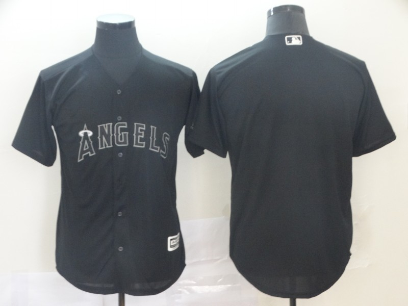 Angels Blank Black 2019 Players' Weekend Authentic Player Jersey
