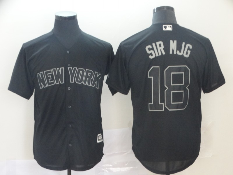 "Yankees 18 Didi Gregorius ""Sir Mjg"" Black 2019 Players' Weekend Player Jersey"