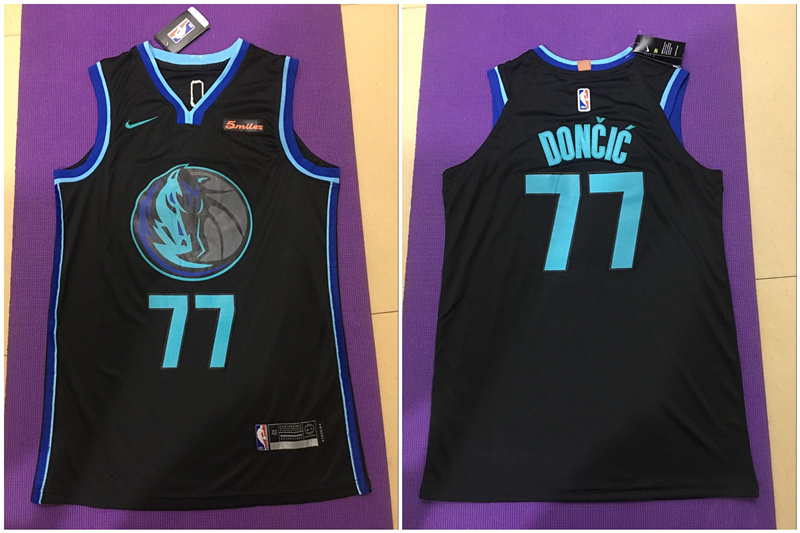 Mavericks 77 Luka Doncic Black City Edition Nike Authentic Jersey
