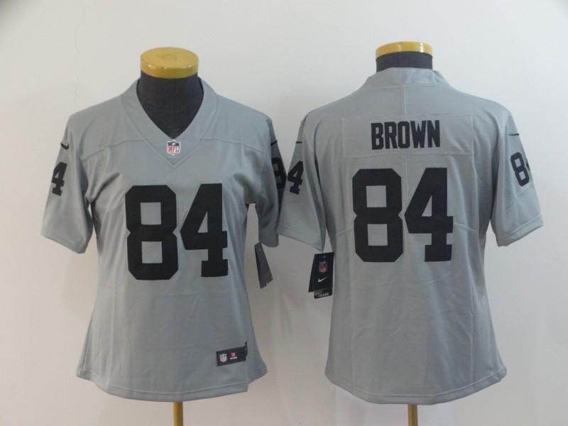 Nike Raiders 84 Antonio Brown Gary Women Inverted Legend Limited Jersey