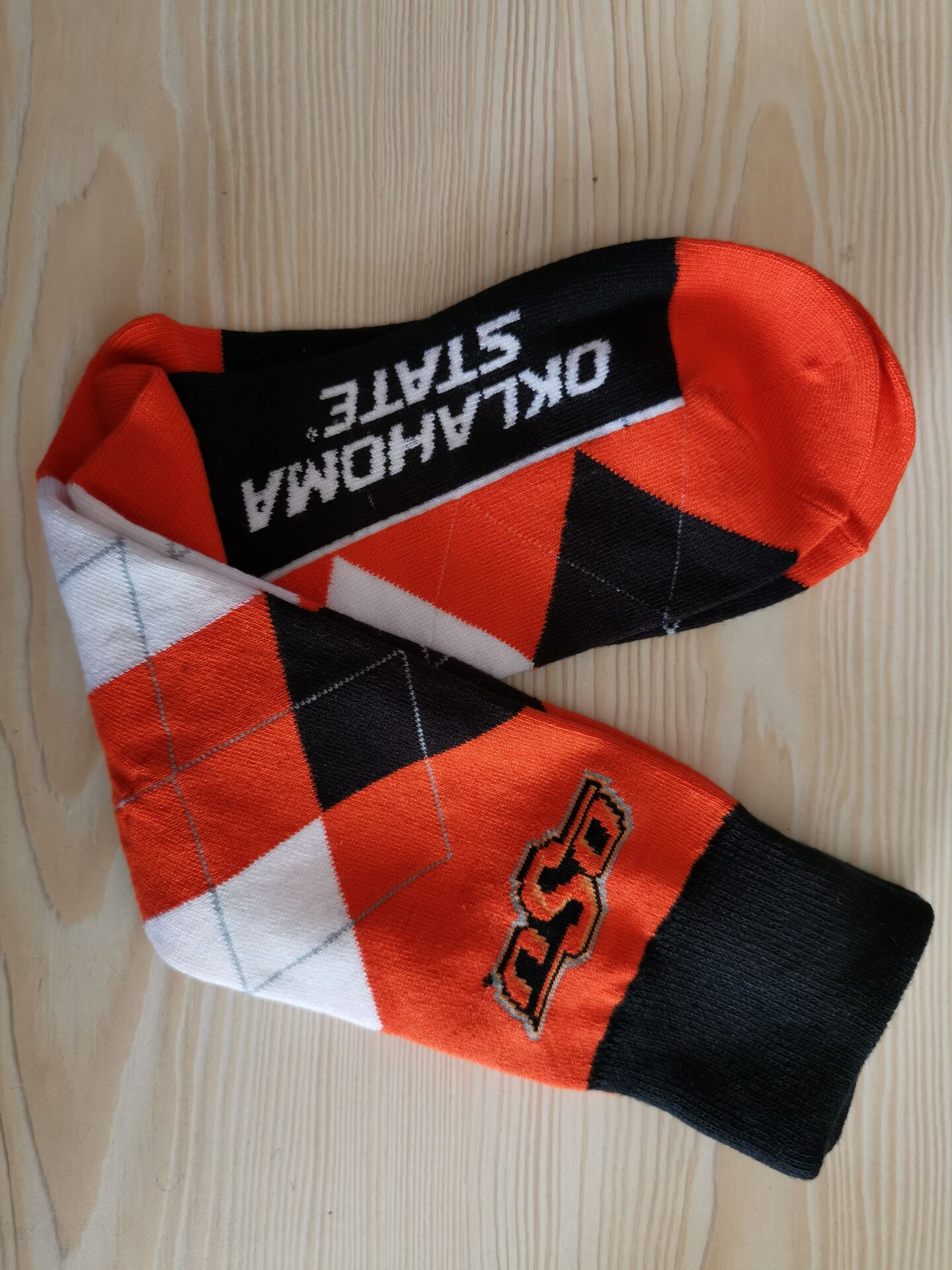 Oklahoma State Team Logo NCAA Socks