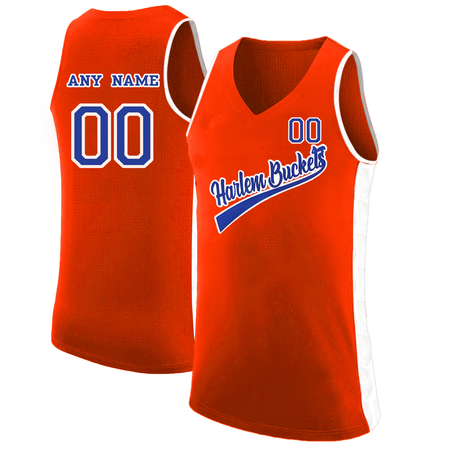 Harlem Buckets Customized Orange Uncle Drew Basketball Jersey