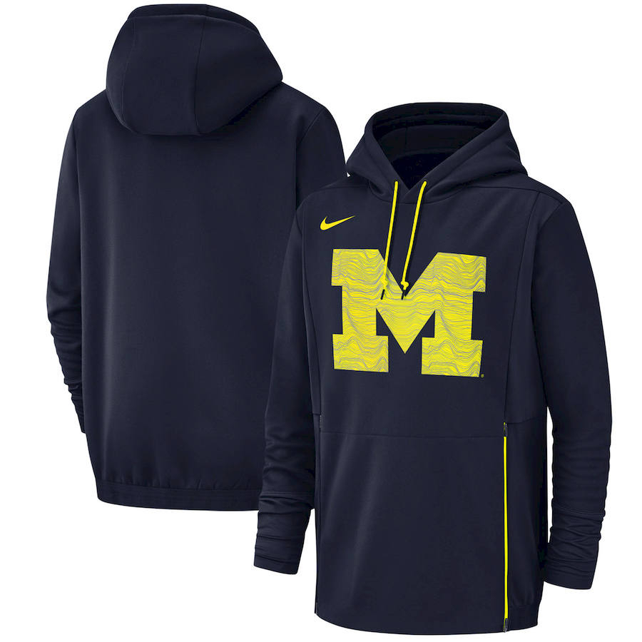 Michigan Wolverines Nike Champ Drive Performance Pullover Hoodie Navy