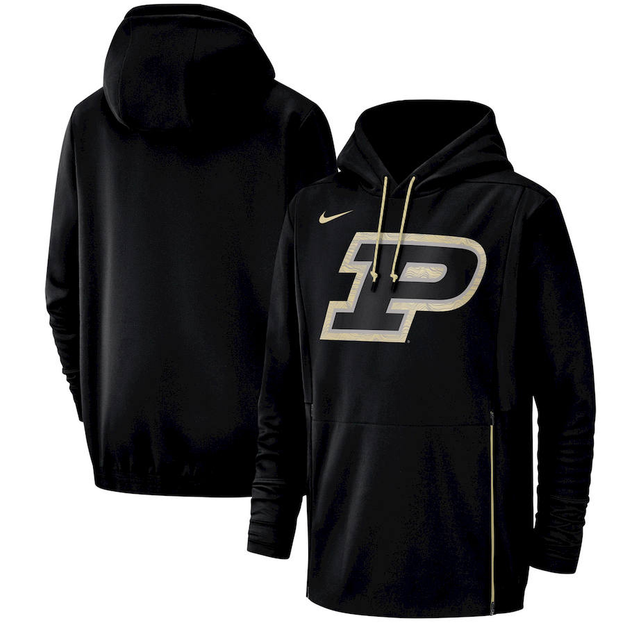 Purdue Boilermakers Nike Champ Drive Performance Pullover Hoodie Black
