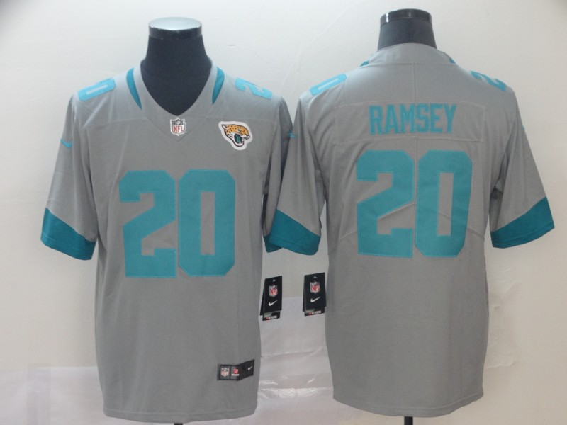 Nike Jaguars 20 Jalen Ramsey Silver Inverted Legend Limited Jersey