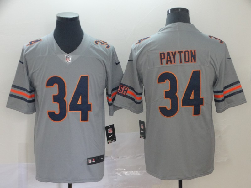 Nike Bears 34 Walter Payton Gray Inverted Legend Limited Jersey