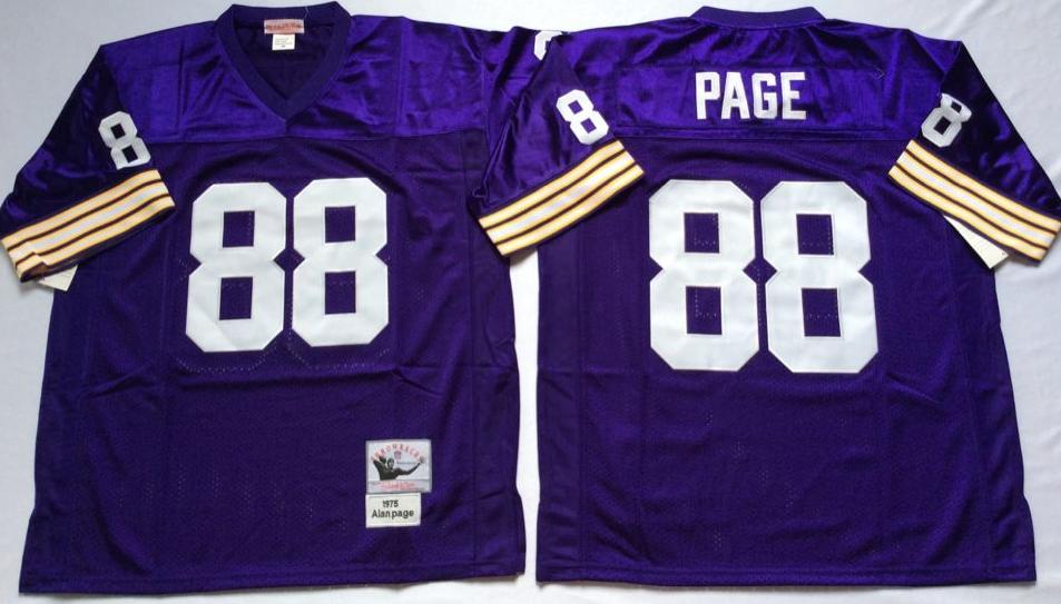 Vikings 88 Alan Page Purple M&N Throwback Jersey