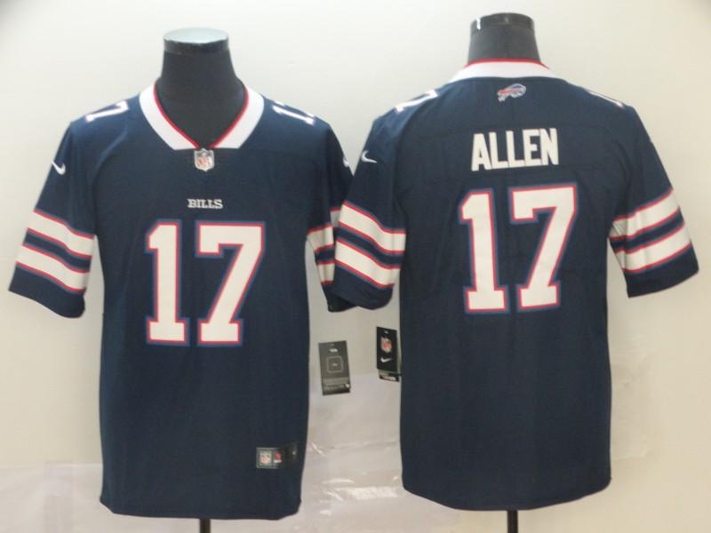 Nike Bills 17 Josh Allen Navy Inverted Legend Limited Jersey