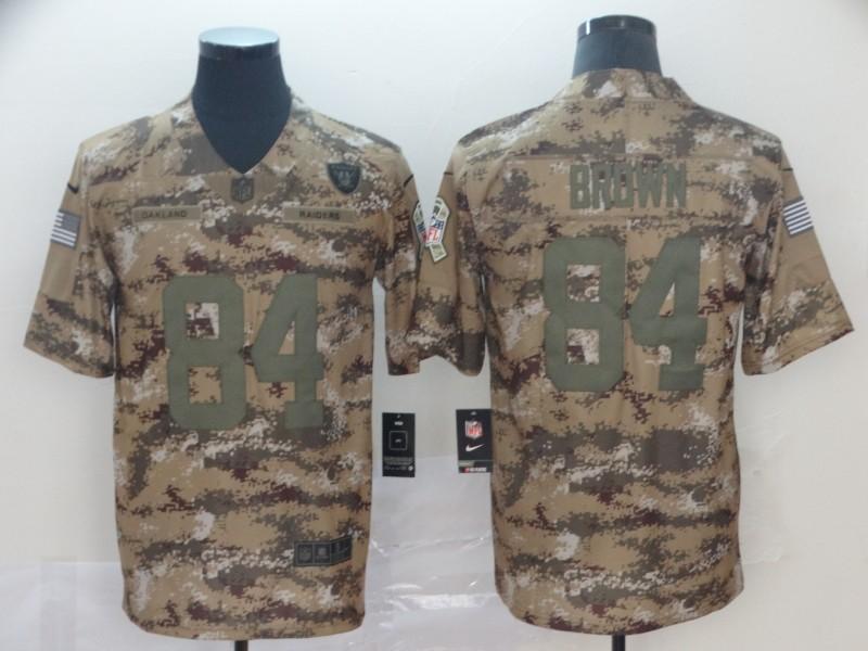 Nike Raiders 84 Antonio Brown Camo Salute to Service Limited Jersey