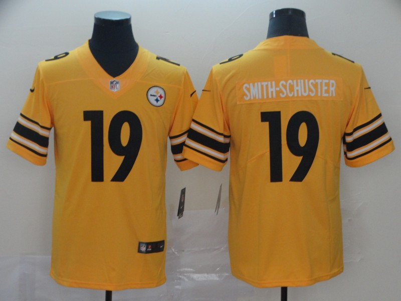 Nike Steelers 19 JuJu Smith-Schuster Gold Inverted Legend Limited Jersey