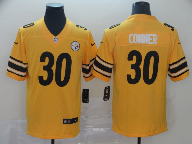 Nike Steelers 30 James Conner Gold Inverted Legend Limited Jersey