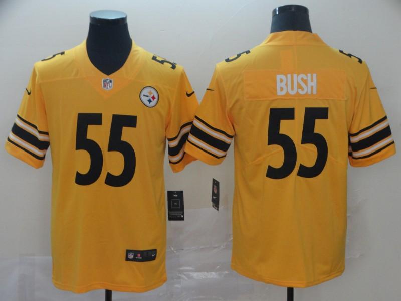 Nike Steelers 55 Devin Bush Gold Inverted Legend Limited Jersey