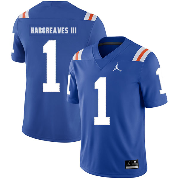 Florida Gators 1 Vernon Hargreaves Blue Throwback College Football Jersey