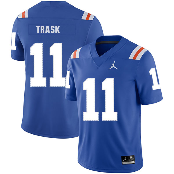 Florida Gators 11 Kyle Trask Blue Throwback College Football Jersey