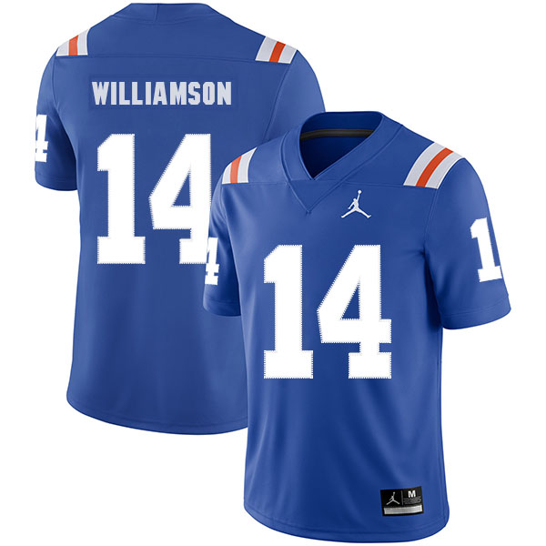 Florida Gators 14 Chris Williamson Blue Throwback College Football Jersey