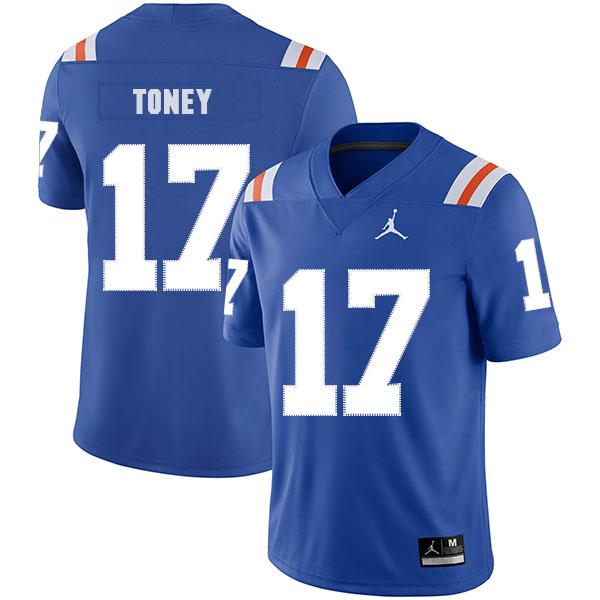Florida Gators 17 Kadarius Toney Blue Throwback College Football Jersey