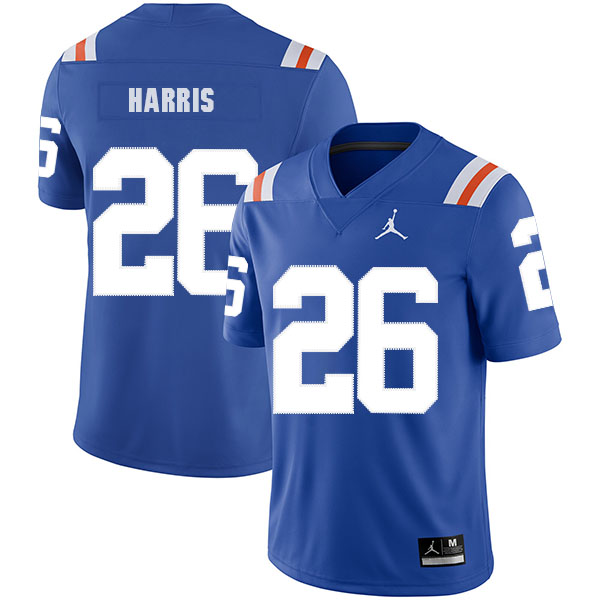 Florida Gators 26 Marcell Harris Blue Throwback College Football Jersey