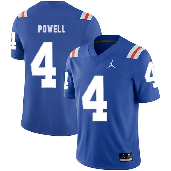 Florida Gators 4 Brandon Powell Blue Throwback College Football Jersey