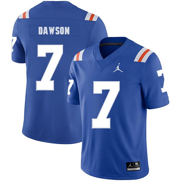 Florida Gators 7 Duke Dawson Blue Throwback College Football Jersey