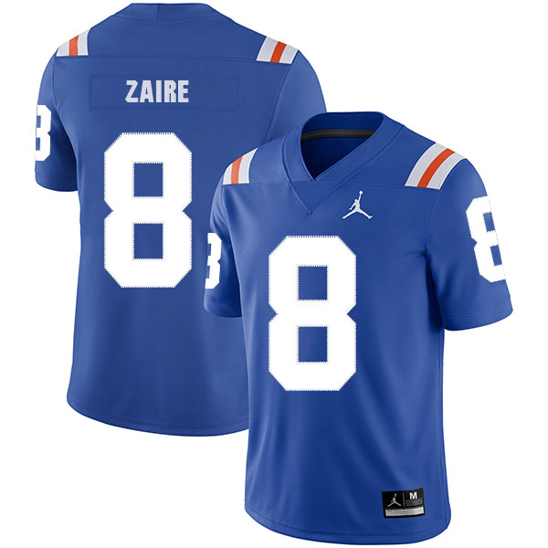 Florida Gators 8 Malik Zaire Blue Throwback College Football Jersey