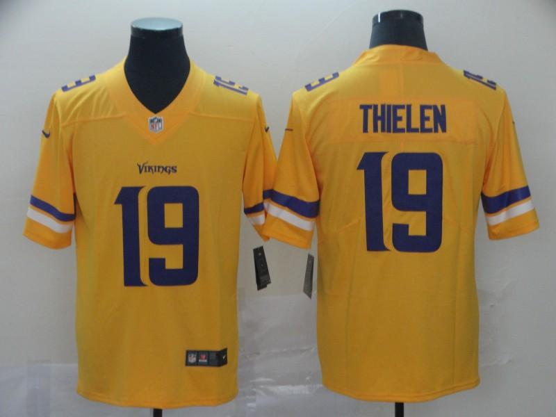 Nike Vikings 19 Adam Thielen Gold Inverted Legend Limited Jersey