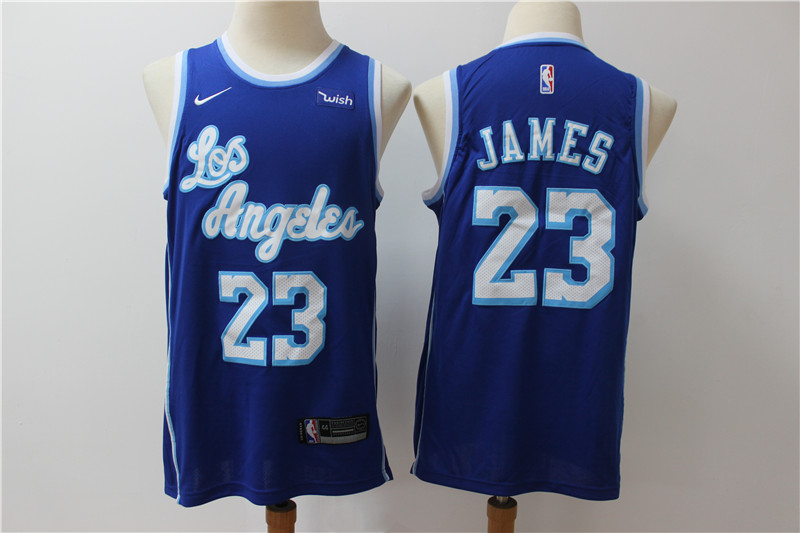 Lakers 23 Lebron James Blue Nike Swingman Jersey